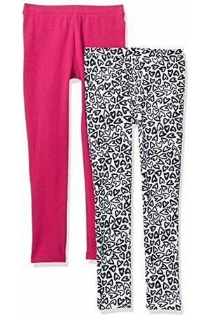 Spotted Zebra 2-Pack Cozy Leggings Heart/Fuchsia, XX-Large (14)
