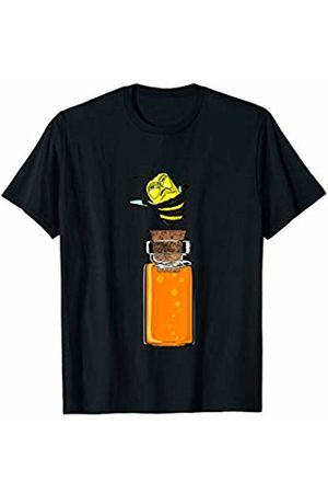 Funny fly Bee Gift idea for Bee & pollen Lovers T-shirts - Funny Angry Bee will sugar in glasses Gift idea for Bees T-Shirt