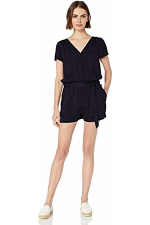 Daily Ritual Women Jumpsuits & Playsuits - Tencel Short-Sleeve Wrap Romper Navy