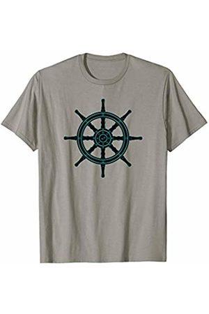 Jimmo Designs Ship's Wheel Nautical Adventures Sailors T-Shirt