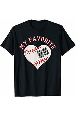 Baseball Player My Favorite Star Fan Shirt Gifts Baseball Player 26 Jersey Outfit No #26 Sports Fan Gift T-Shirt