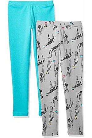 Spotted Zebra 2-Pack Cozy Leggings Giraffe/Teal, X-Small (4-5)