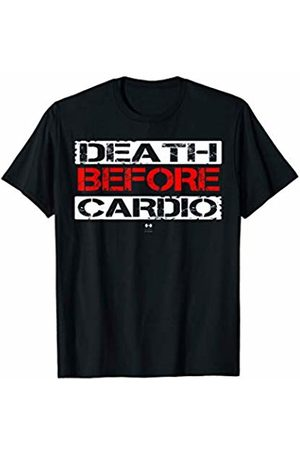 best cardio funny tee's Death Before Cardio T-Shirt Gym Workout Gift Shirt T-Shirt
