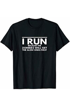 Running for Fun Tee Shirt Co Running Motivational Funny T-shirt Watch out for Zombies T-Shirt