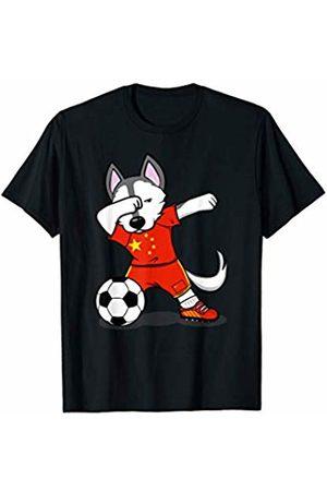 GTee 2019 Husky Soccer Shirts Husky Dabbing China Soccer Jersey 2019 Chinese Football T-Shirt