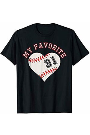 Baseball Player My Favorite Star Fan Shirt Gifts Baseball Player 31 Jersey Outfit No #31 Sports Fan Gift T-Shirt