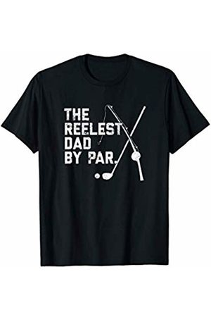 Nuleaf Fishing Apparel Mens Funny Fishing Golf Father's Day Gift | Reelest Dad Golfing T-Shirt