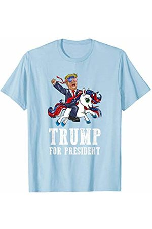 Trump 2020 Republican Election Apparel Trump For President Bandana Glasses Riding American Unicorn T-Shirt