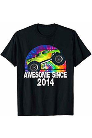Tie Dye Rainbow Truck Racing Kids Birthday Co Awesome Since 2014 Big Truck Tie Dye Rainbow Sunset T-Shirt T-Shirt