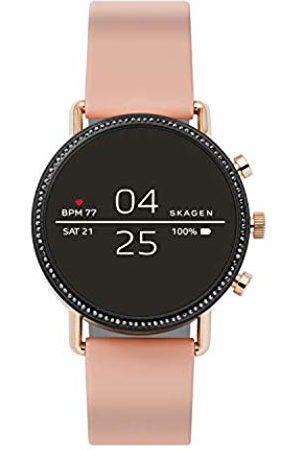 Skagen Womens Digital Connected Wrist Watch with Silicone Strap SKT5107