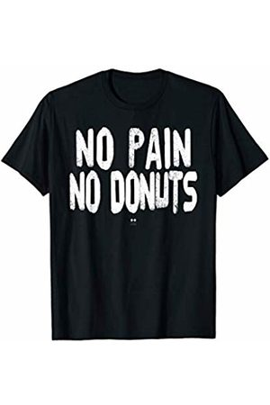 great funny puns tee's No Pain No Donuts Funny Gym T-Shirt T-Shirt