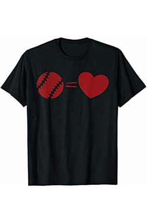 Baseball Softball is love designs Baseball Softball equals Love - Sports Team Graphic T-Shirt