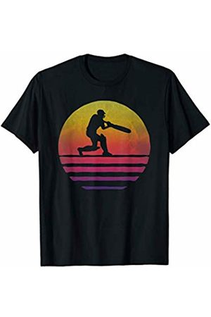 Merchalize Retro Vintage Sunset Old School Cricket Sport Funny Gift T-Shirt