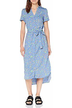 Vero Moda Women's Vmnatasia Dalion S/s Shirt Dress Exp (Provence AOP: Dots)
