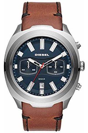 Diesel Mens Chronograph Quartz Watch with Leather Strap DZ4508