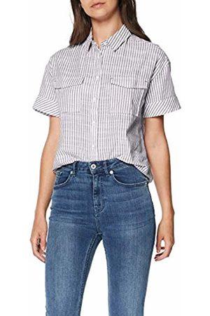 Mustang Women's Striped Blouse (Linen Like Check 11341)