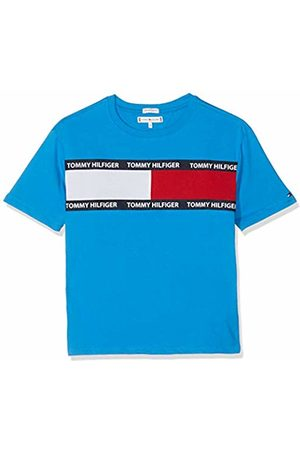 Tommy Hilfiger Boy's U Flag Tee S/s Plain T-Shirt Short Sleeve T-Shirt