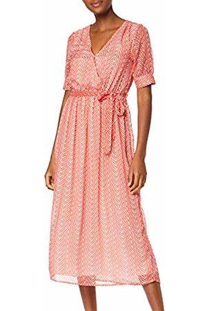 6f8ff6a0916e Only Women's Onlfleur Maxi Dress WVN (Cloud Dancer AOP: Zigzag)