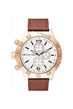 Louis Villiers Unisex Adult Analogue Quartz Watch with Leather Strap LV1030