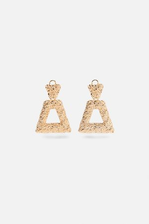 Zara Textured geometric earrings