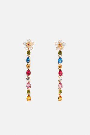 Zara Flower earrings with real pearls and gemstones