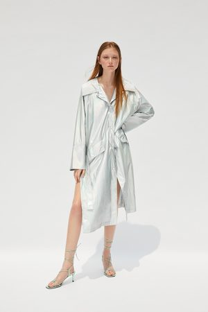 Zara Women Trench Coats - Limited edition metallic trench coat