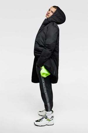Zara Hooded down puffer coat