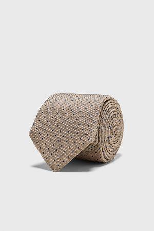 Zara Polka dot jacquard wide tie