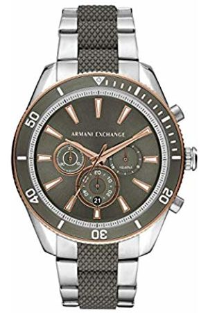 Armani Mens Chronograph Quartz Watch with Stainless Steel Strap AX1830