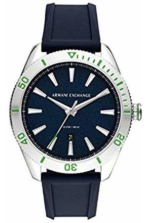 Armani Mens Analogue Quartz Watch with Silicone Strap AX1827