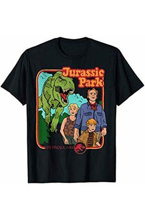 Jurassic Park Retro Life Finds A Way Park Poster T-Shirt