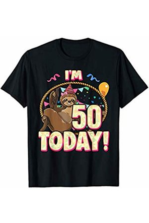 50th Birthday Sloth Gift Party Lazy Cute 50 Fifty T Shirt