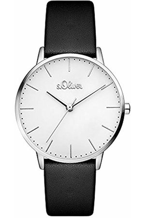 s.Oliver Women's Analogue Quartz Watch with Leather Strap SO-3440-LQ