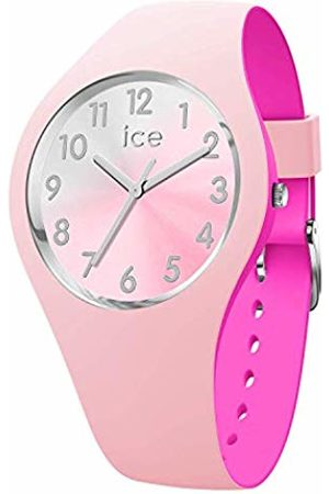 Ice-Watch ICE duo chic Pink silver - Women's wristwatch with silicon strap - 016979 (Small)