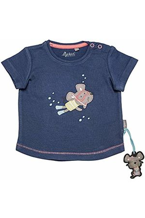 sigikid Girls' T-Shirt, Baby (Costal Fiord Melange 284)