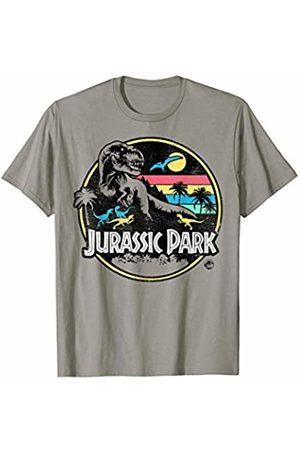 Jurassic Park Striped Retro T-Rex T-Shirt
