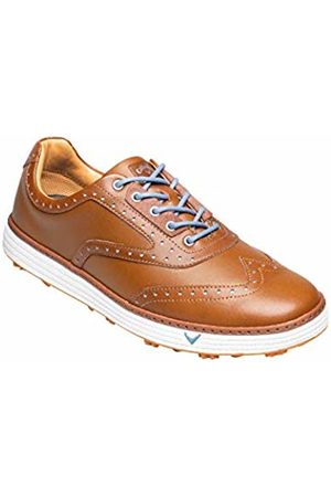 Callaway Men's Del Mar Retro Waterproof Spikeless Golf Shoes, Tan/