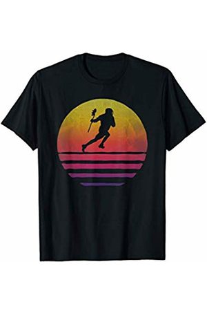 Merchalize Lacrosse Sport Retro Vintage Sunset Old School Funny Gift T-Shirt