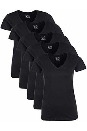 Berydale Für Sport & Freizeit, V-Ausschnitt T-Shirt, Schwarz, X-Large