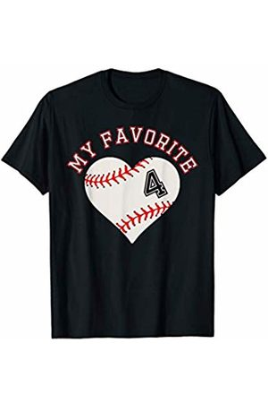 Baseball Player My Favorite Star Fan Shirt Gifts Baseball Player 4 Jersey Outfit No #4 Sports Fan Gift T-Shirt