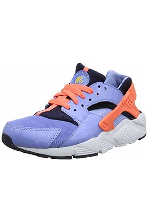 Nike Girls Trainers - Girls Huarache Run Gs 654280-402 Low-Top Sneakers, Azul/Amarillo/ (Chlk /Brght MNG-Obsdn-Cnry)