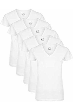 Berydale Women T-shirts - Für Sport & Freizeit, V-Ausschnitt T-Shirt, Weiß, Small