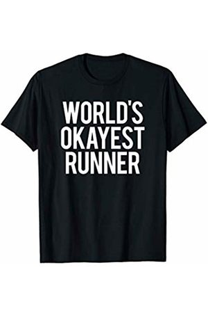 GYMCO Workout T-Shirts Worlds Okayest Runner Funny Workout Gym Cardio Running Gift T-Shirt