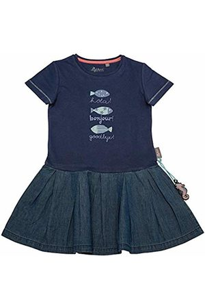 sigikid Girl's Kleid, Mini Dress, ((Costal Fiord Melange 284)