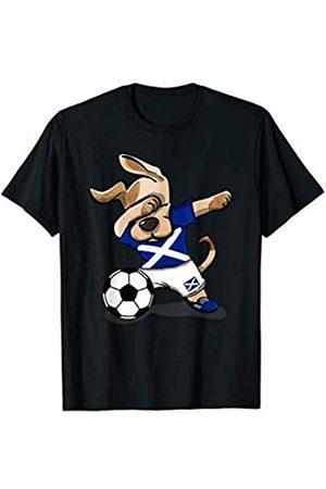GTee 2019 Dog Soccer Shirts Dabbing Dog Scotland Soccer Jersey 2019 Scottish Football T-Shirt