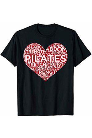 Pilates Fitness Workout Training Apparel - dizeyns I Love Pilates Heart Workout Fitness Training Saying T-Shirt
