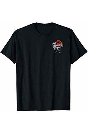 Jurassic Park Logo On Raptor's Tail Pocket T-Shirt