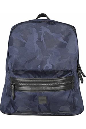 Urban classics S Camo Jacquard Backpack, Unisex Adults' Mehrfarbig (Navy Camo)