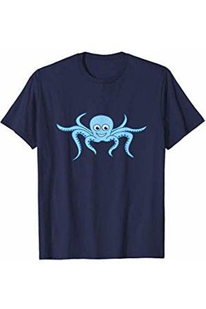 Jimmo Designs Funny Octopus Cartoon Ocean Lovers T-Shirt
