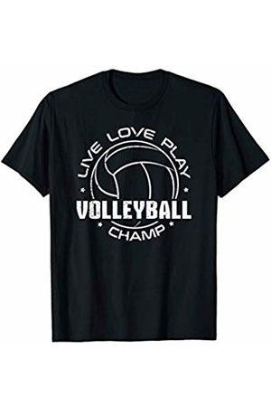 Jomqueru Vball Volleyball Ball Sports Game Champ Champion T-Shirt